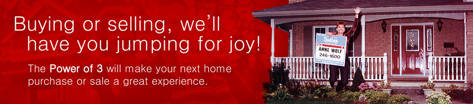 Buying or selling, we'll have you jumping for joy! The Power of 3 will make your next home purchase or sale a great experience.
